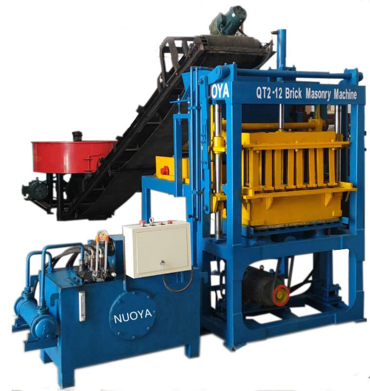 2-12半自动液压制砖机,