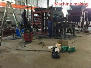 Columbia Machine, India. Concrete Solid Block production facility
